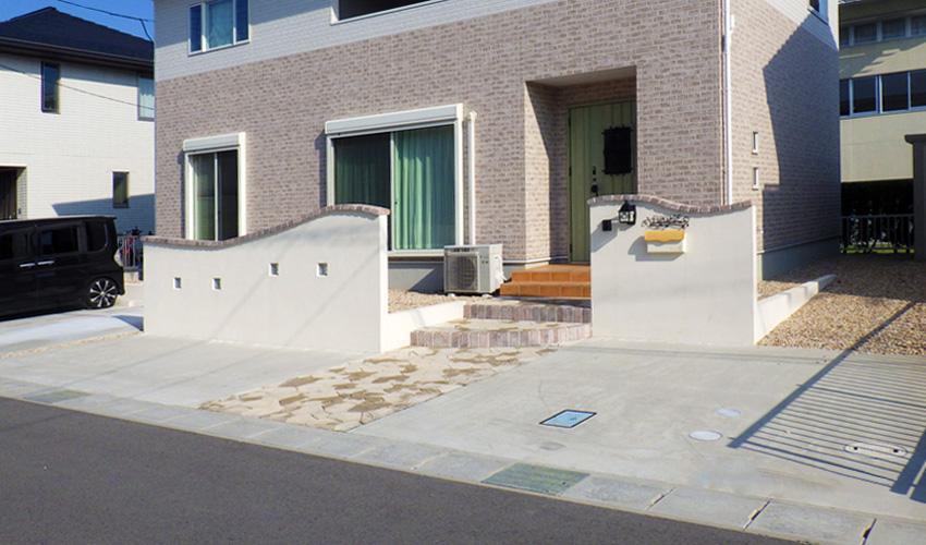 施工事例 新築外構 玄関