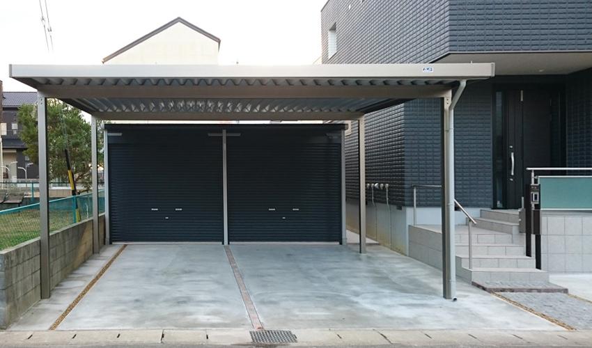 施工事例 新築外構 カーポート ガレージ