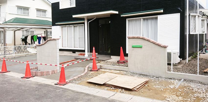施工事例 リニューアル外構 駐車スペース拡張 亀山市