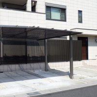 施工事例 新築外構 玄関 カーポート 植栽 鈴鹿市