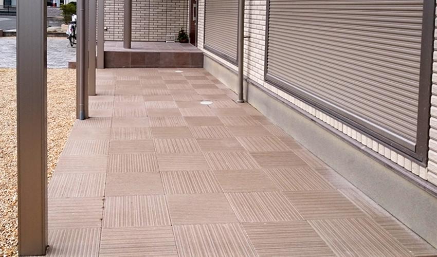 施工事例 新築外構 テラス 土間 四日市市