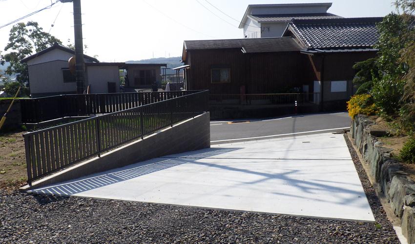 施工事例 リニューアル外構 スロープ 亀山市