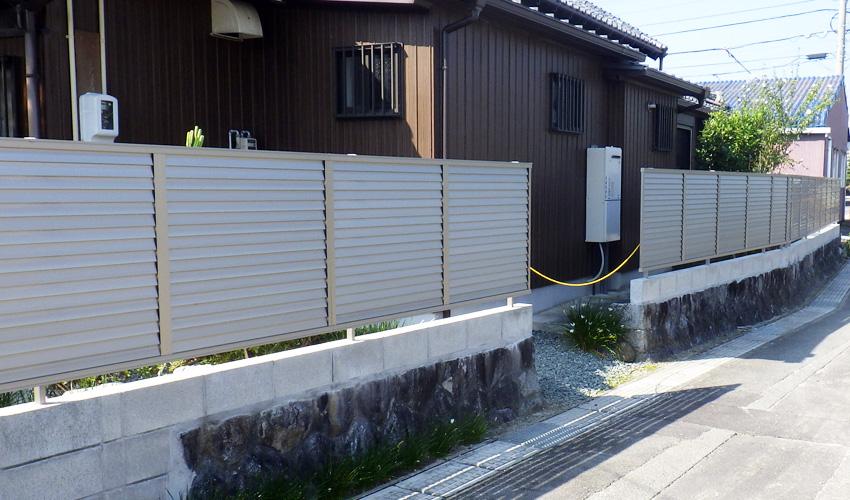 施工事例 塀リニューアル工事 鈴鹿市