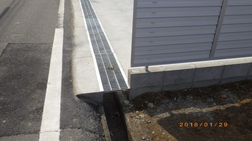 リフォーム外構 門柱 駐車場 フェンス 表札