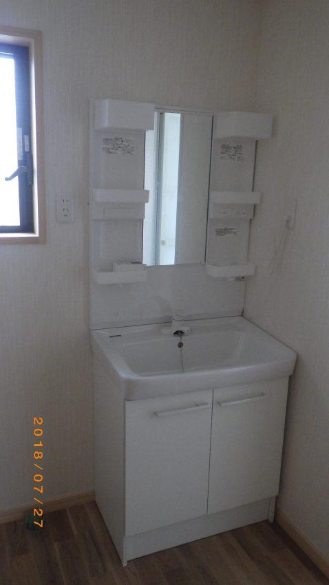 リフォーム、洗面化粧台、下水工事
